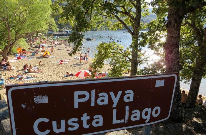 Entrada a la playa de Custa Llago Lago de Sanabria