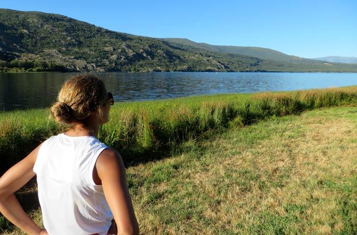Contemplando el Lago de Sanabria desde los alrededores de Ribadelago Nuevo