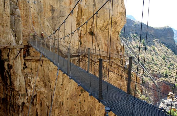 Vista del Puente Colgante Caminito del Rey