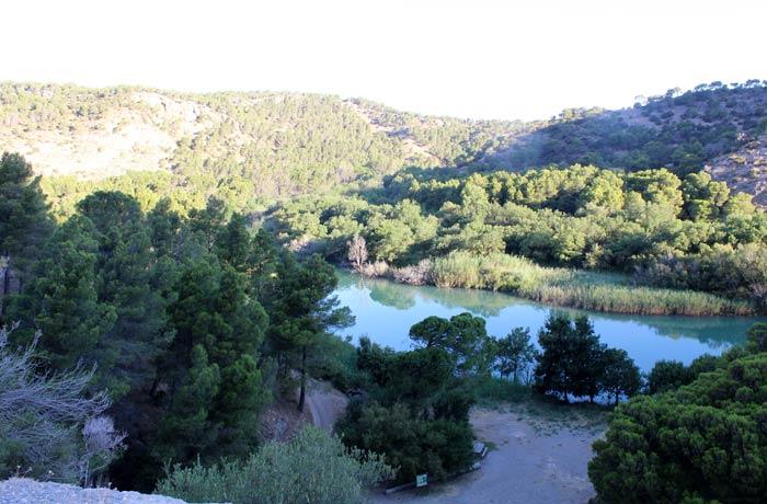 Vistas del río Guadalhorce desde las taquillas del Caminito del Rey