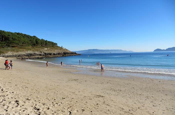 Arena de la playa de Melide