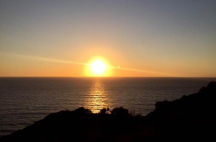 Pueste de sol en el cabo Home