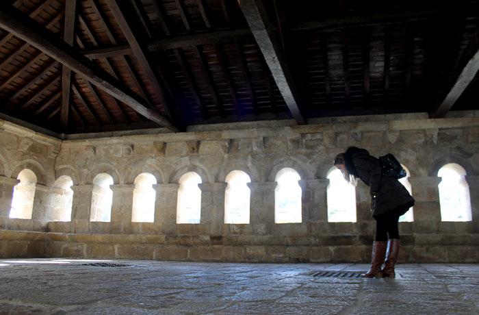 Interior del Domus Municipalis qué ver en Braganza