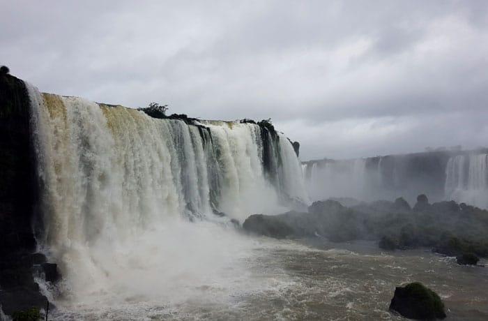 Las cataratas vistas desde Brasil Cataratas del Iguazú