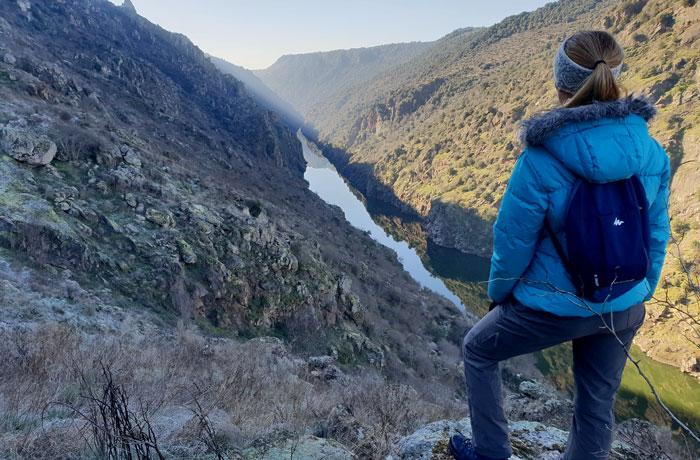 Vista de las Arribes del Duero en un punto de la ruta