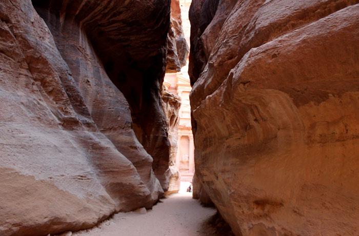 Espectacular el desfiladero en sus metros finales que ver en Petra