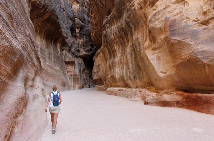 Caminando por el Siq que ver en Petra