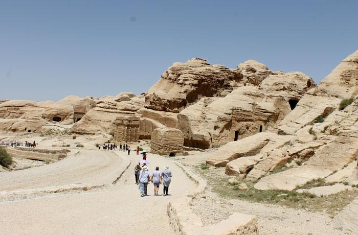 Inicio del recorrido por Petra que ver en Petra