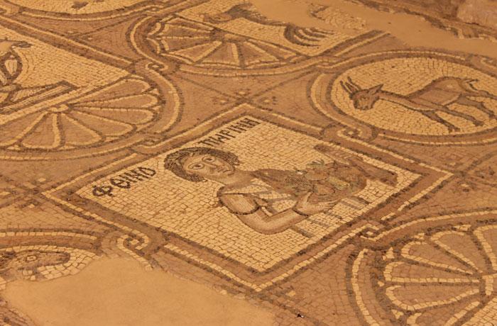 Mosaicos de la iglesia bizantina que ver en Petra