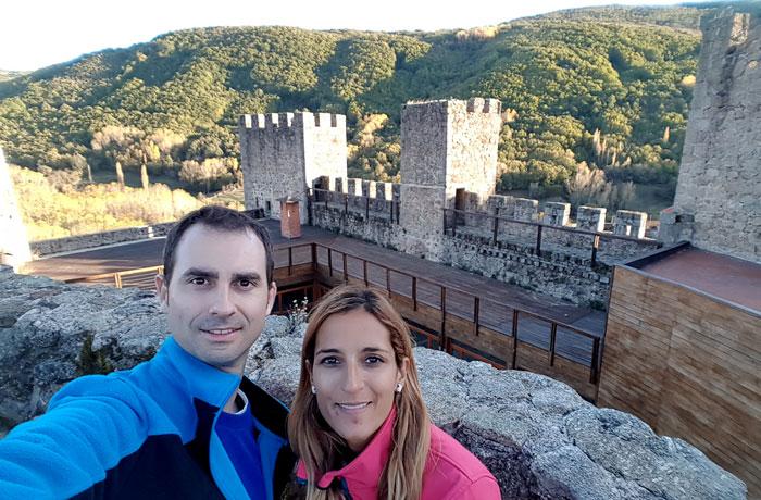 Selfie en el interior del castillo