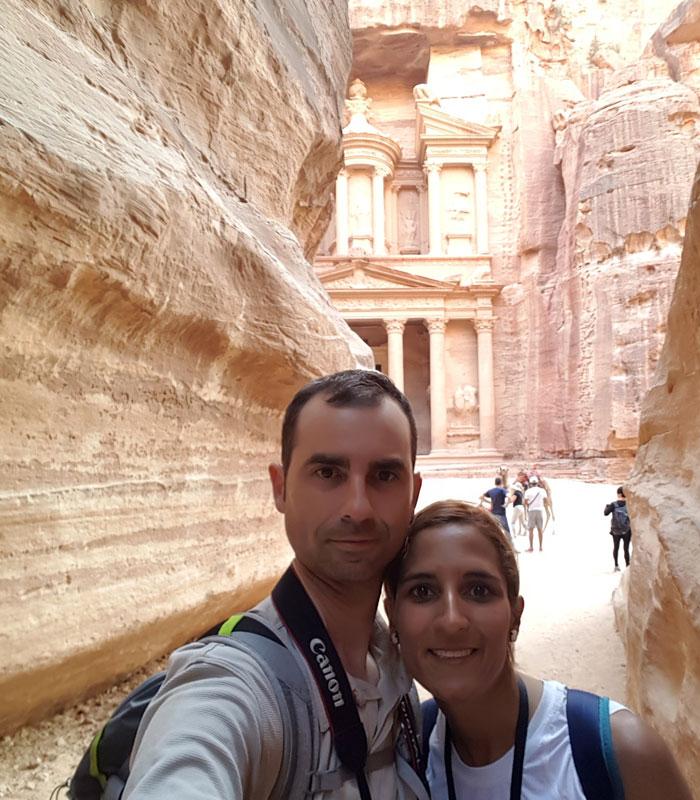 Selfie en el Siq que ver en Petra