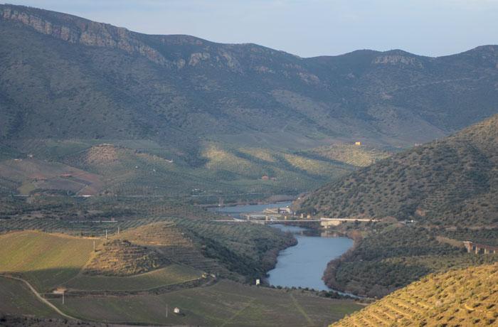 La desembocadura del Águeda en el Duero, desde el Alto da Sapinha