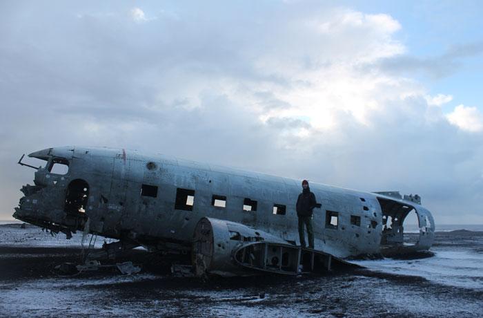 El avión DC-3 estrellado en Islandia
