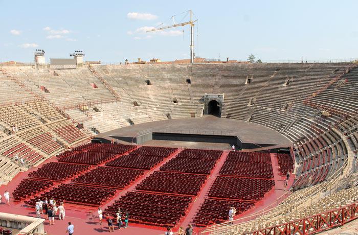 Panorámica del interior de la Arena de Verona