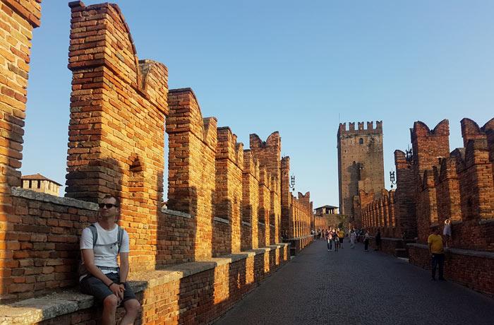 Atardecer en el puente de Castelvecchio