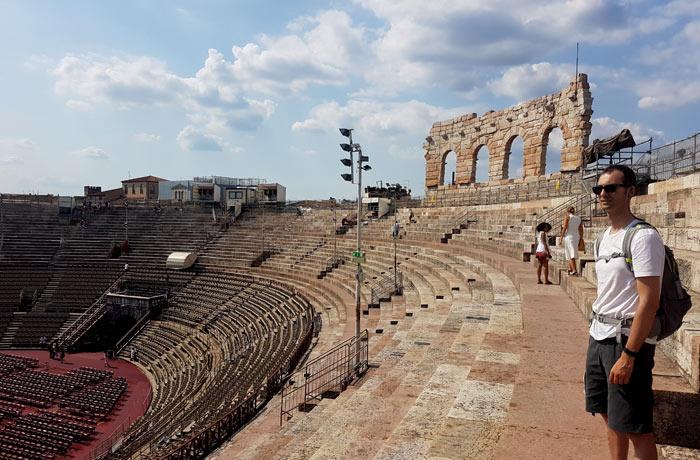 En el interior de la Arena de Verona
