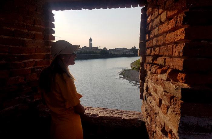 El río Adigio desde el puente de Castelvecchio qué ver en Verona