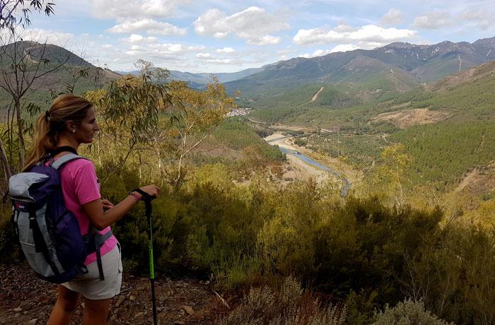 Vista desde uno de los puntos más elevado de la ruta meandros del Alagón