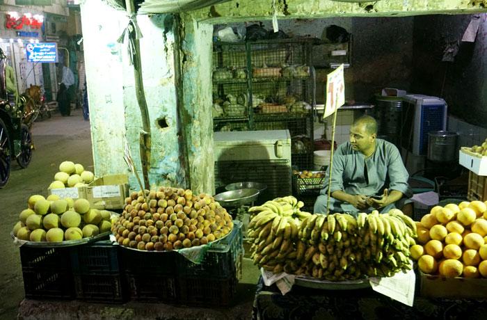 Puesto de fruta en Luxor