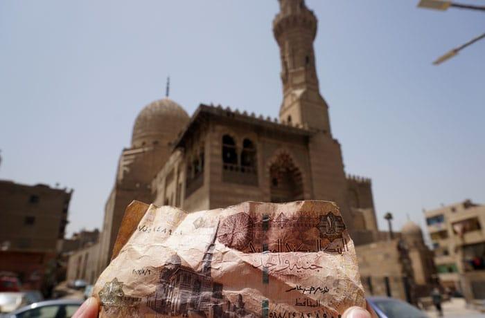 Mezquita Qaitbay de El Cairo, presente en los billetes de una libra