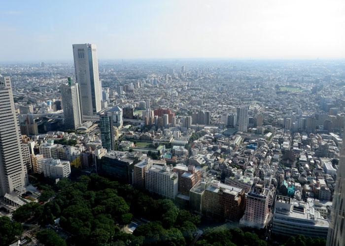 Vista de la ciudad de Tokio