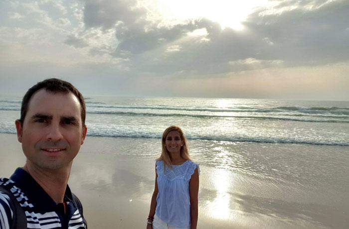Atardecer en la playa de Mira