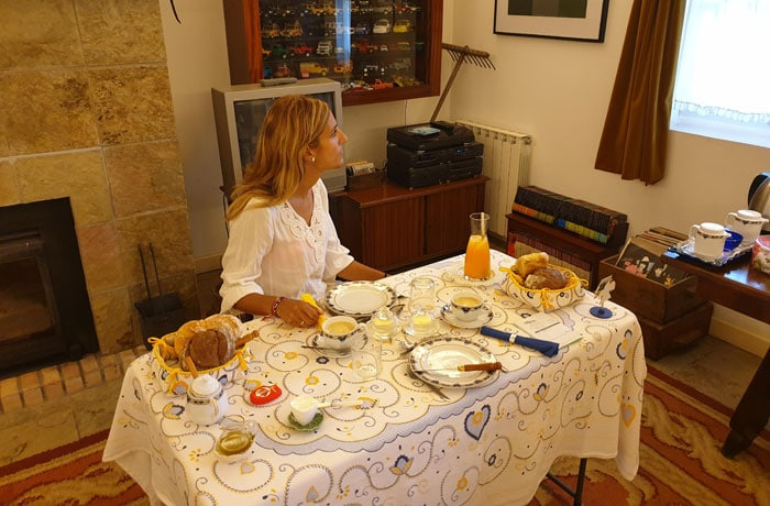 Desayuno de la Casa da Ria