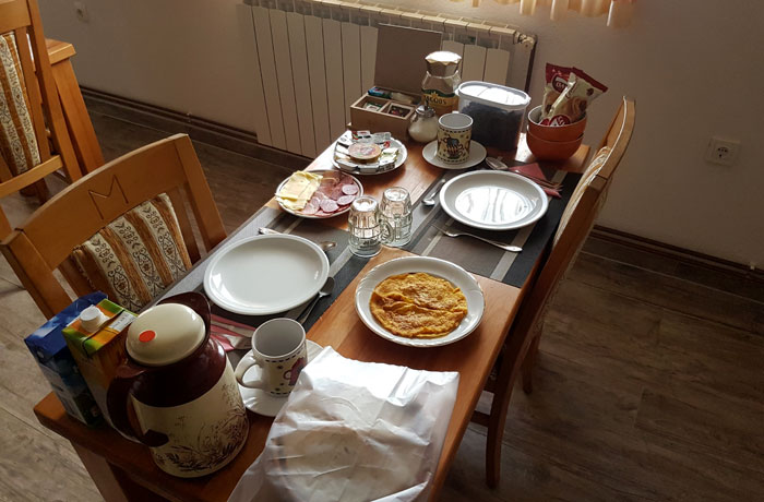 Nuestro desayuno en Guesthouse Nikolina