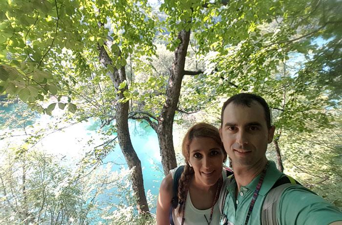 Selfie en los lagos de Plitvice