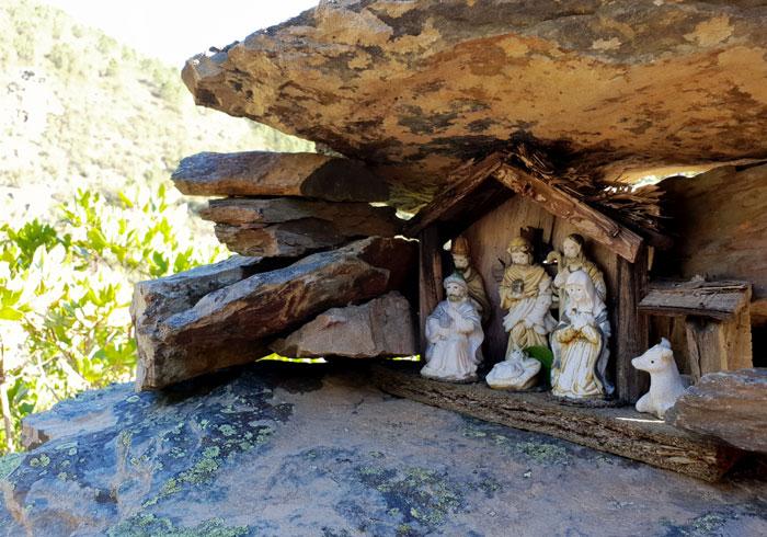 Uno de los belenes de las ruinas del convento Valle de Belén