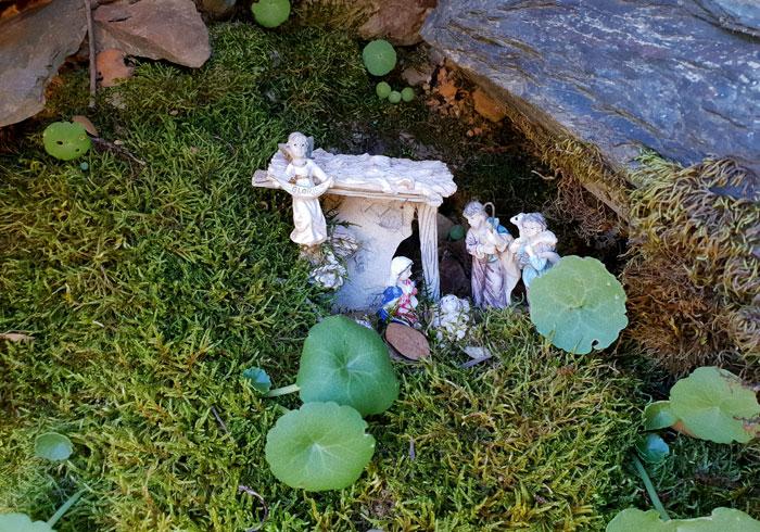 Belén más pequeño en las ruinas del convento