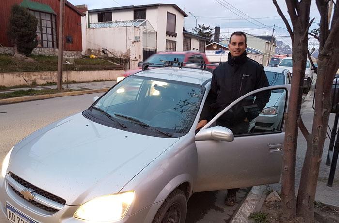 Nuestro coche de alquiler en Ushuaia