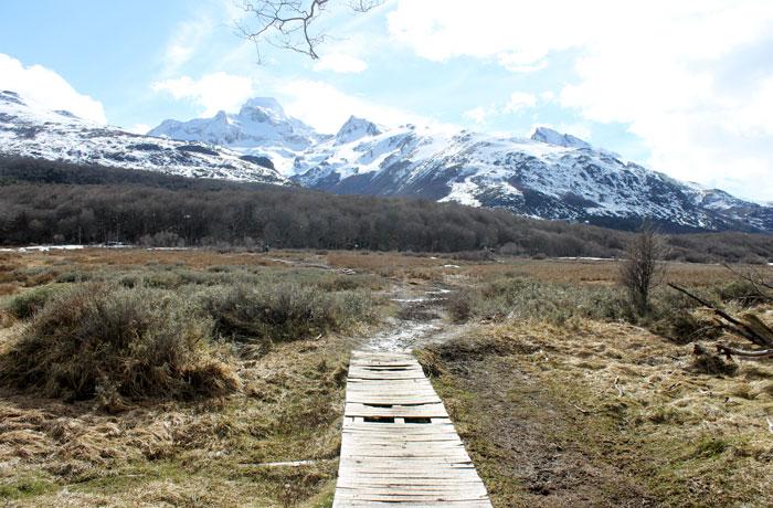 Pasarela de la ruta de la Laguna Esmeralda que hacer en Ushuaia