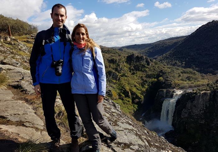 Pozo de los Humos desde Pereña de la Ribera cascadas de Salamanca