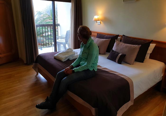 Nuestra habitación del Sao Jorge Garden Hotel