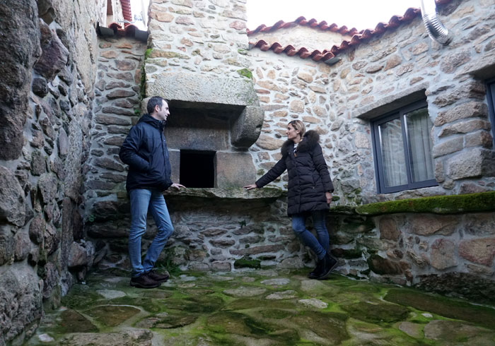 Antiguo horno de pan en las Casas do Juizo