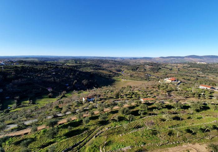 Vistas desde el castillo de Pinhel