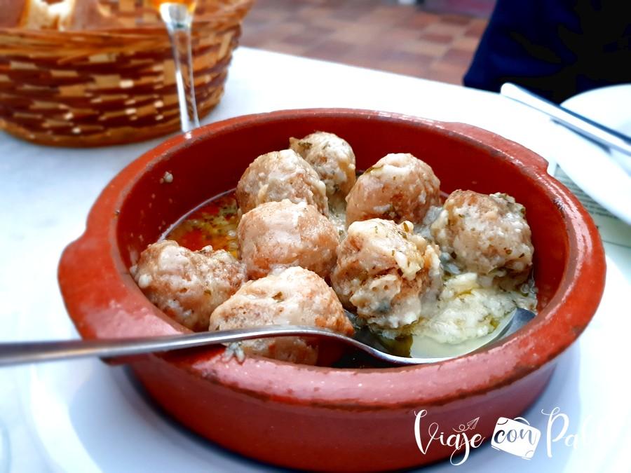 Albóndigas del restaurante Villamor