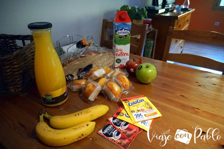 Productos para el desayuno en Aguas Frías